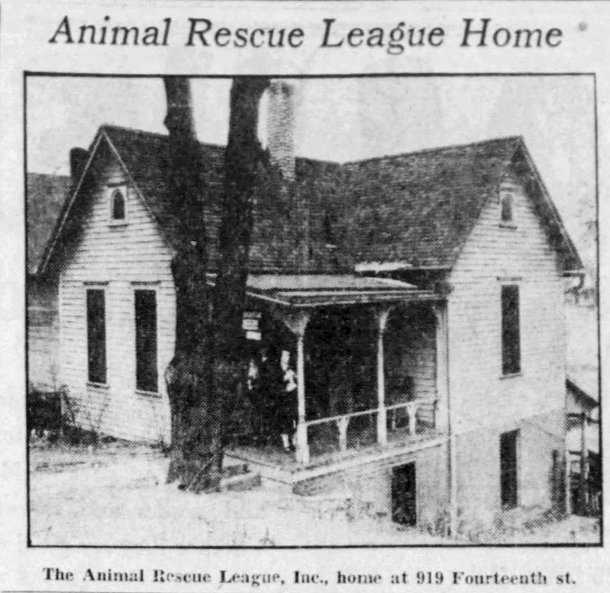 Original home of Animal Rescue League
